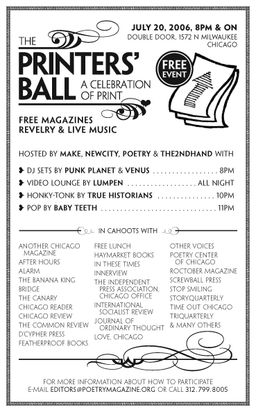 THE PRINTERS' BALL: A CELEBRATION OF PRINT